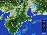 2015年07月15日の三重県の雨雲レーダー