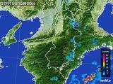 2015年07月15日の奈良県の雨雲レーダー