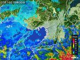 雨雲レーダー(2015年07月16日)