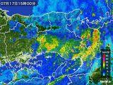 2015年07月17日の兵庫県の雨雲レーダー