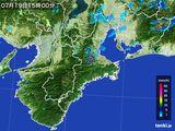 2015年07月19日の三重県の雨雲レーダー