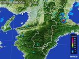 2015年07月19日の奈良県の雨雲レーダー