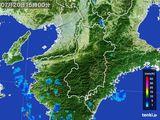 2015年07月20日の奈良県の雨雲レーダー