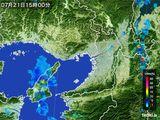 2015年07月21日の大阪府の雨雲レーダー