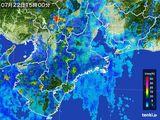 2015年07月22日の三重県の雨雲レーダー
