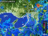 2015年07月22日の大阪府の雨雲レーダー