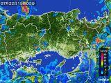 2015年07月22日の兵庫県の雨雲レーダー