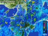 2015年07月22日の奈良県の雨雲レーダー