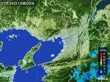 2015年07月24日の大阪府の雨雲レーダー