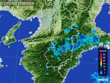2015年07月24日の奈良県の雨雲レーダー