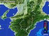 2015年07月25日の奈良県の雨雲レーダー