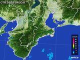 2015年07月26日の三重県の雨雲レーダー