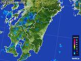 2015年07月26日の宮崎県の雨雲の動き