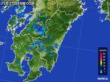 2015年07月27日の宮崎県の雨雲の動き