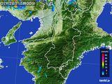 2015年07月28日の奈良県の雨雲レーダー