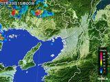 2015年07月29日の大阪府の雨雲レーダー