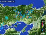 2015年07月29日の兵庫県の雨雲レーダー