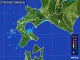 2015年07月29日の道南の雨雲の動き