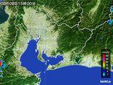 2015年08月02日の愛知県の雨雲の動き