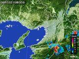 2015年08月02日の大阪府の雨雲レーダー