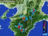 2015年08月02日の奈良県の雨雲レーダー