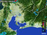 2015年08月03日の愛知県の雨雲の動き