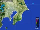 2015年08月04日の千葉県の雨雲レーダー