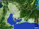 2015年08月04日の愛知県の雨雲の動き