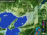 2015年08月04日の大阪府の雨雲レーダー