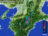 2015年08月04日の奈良県の雨雲レーダー