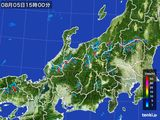 2015年08月05日の北陸地方の雨雲の動き