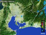 2015年08月06日の愛知県の雨雲の動き