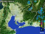 2015年08月08日の愛知県の雨雲の動き
