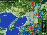 2015年08月08日の大阪府の雨雲レーダー