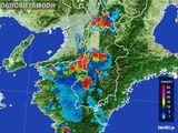 2015年08月08日の奈良県の雨雲レーダー