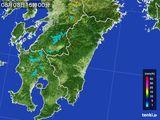 雨雲の動き(2015年08月08日)