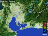 2015年08月09日の愛知県の雨雲の動き