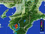 2015年08月09日の奈良県の雨雲レーダー