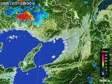 2015年08月10日の大阪府の雨雲レーダー