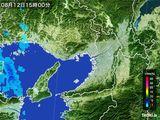2015年08月12日の大阪府の雨雲レーダー