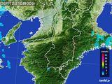 2015年08月12日の奈良県の雨雲レーダー