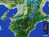 2015年08月13日の奈良県の雨雲レーダー