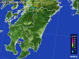 2015年08月13日の宮崎県の雨雲の動き