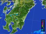 2015年08月14日の宮崎県の雨雲の動き