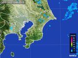 2015年08月16日の千葉県の雨雲レーダー