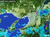 2015年08月16日の大阪府の雨雲レーダー
