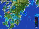 2015年08月16日の宮崎県の雨雲の動き
