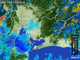 2015年08月17日の愛知県の雨雲の動き