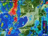 2015年08月17日の大阪府の雨雲レーダー