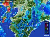 2015年08月17日の奈良県の雨雲レーダー